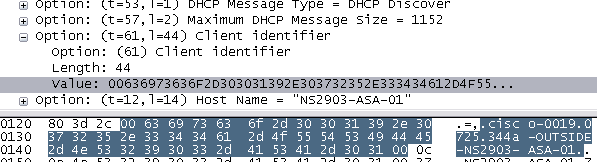 DHCPDISCOVER from ASA 5505